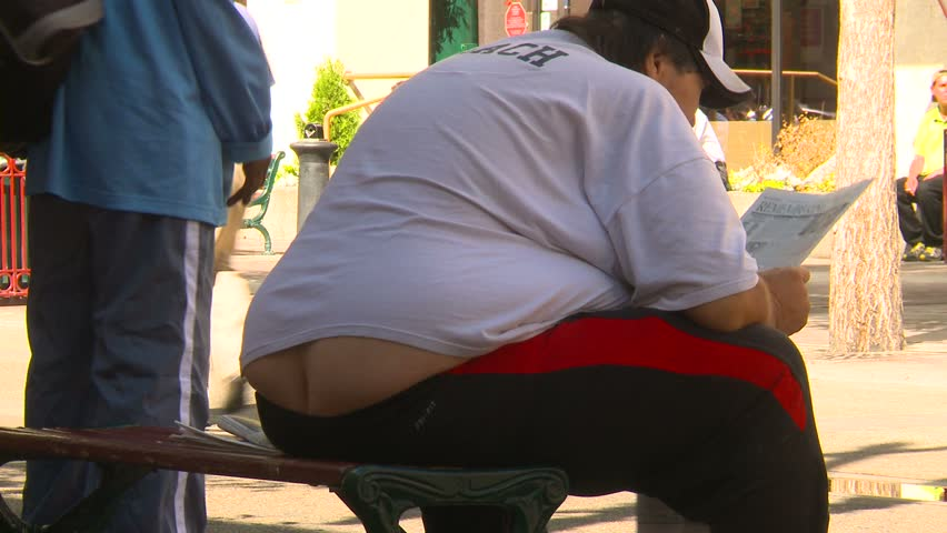 very obese man - HD stock footage clip