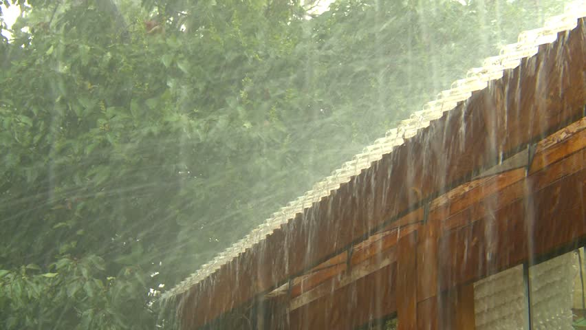 weather, violent thunderstorm hail and rain