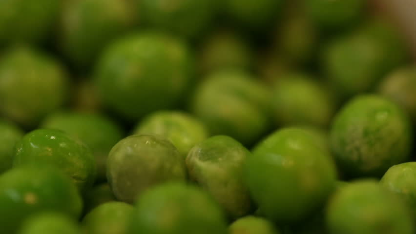 Green peas after thawing - HD stock video clip