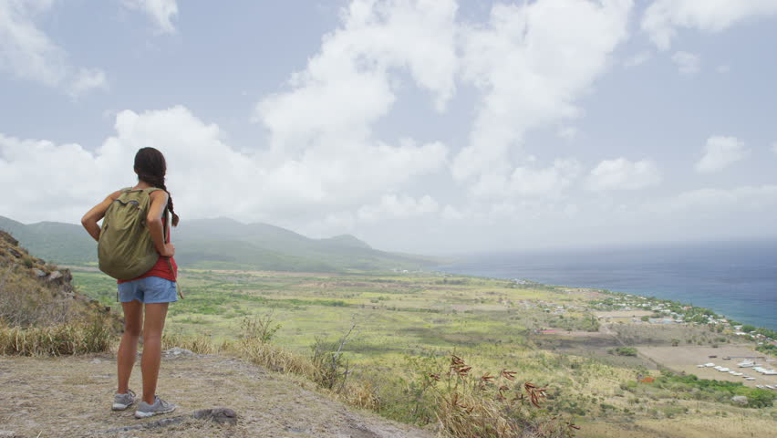 Image gallery mountain hiking girl - Standing canarias ...