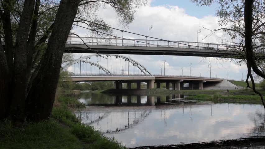 bridges - HD stock video clip