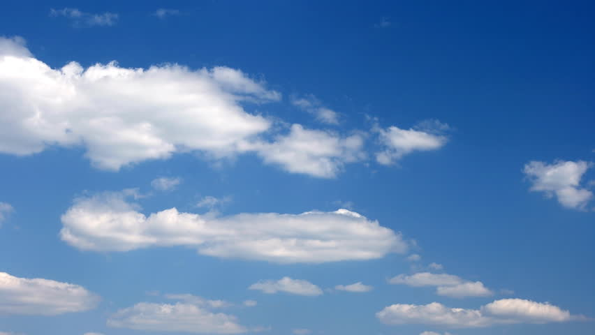A timelapse of generic clouds on a blue sky for background - 4K stock video clip