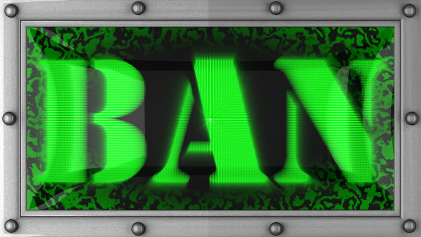 ban  announcement on the LED display - HD stock footage clip