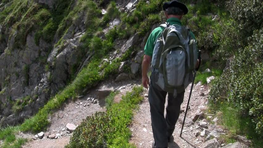 a hiker hiking