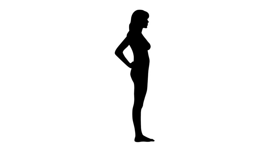 Pregnant Woman With Baby Animation, Transparent Background