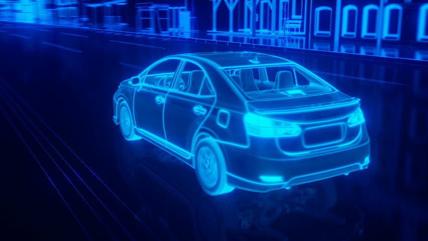 City car structure overview in wire style | Shutterstock HD Video #16503076