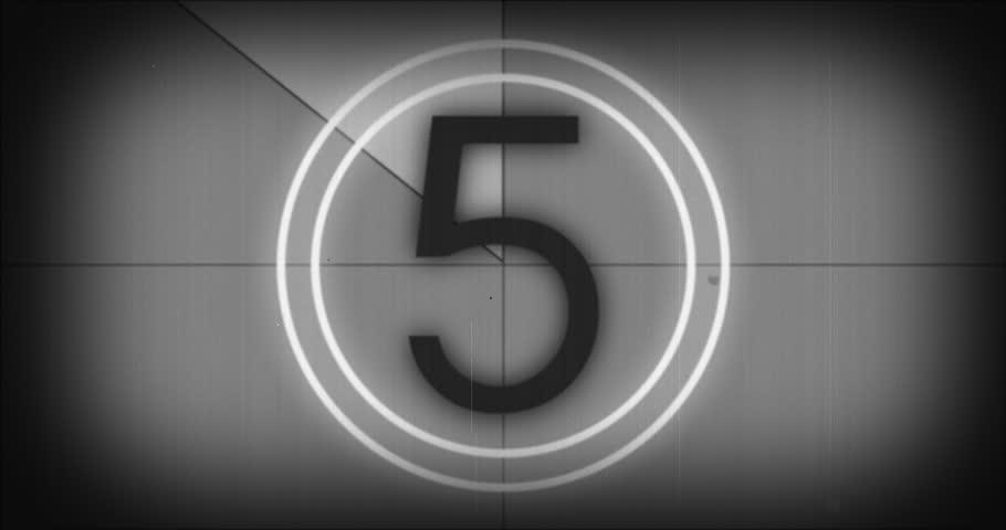Old film leader vintage countdown