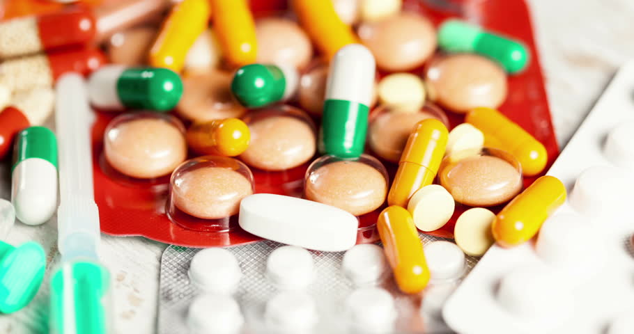 Many pills and capsules in close up footage. 4k Video 60fps  | Shutterstock HD Video #16569469