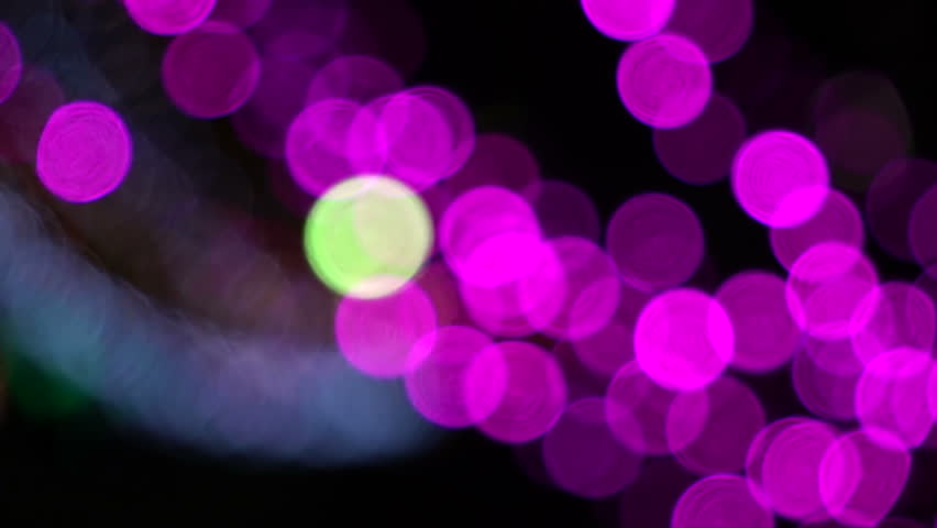 defocused abstract background with night city. hd stock footage clip. - HD stock footage clip