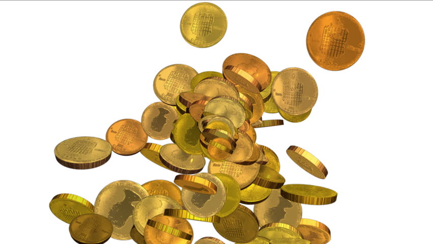 gold coins falling stock footage video shutterstock