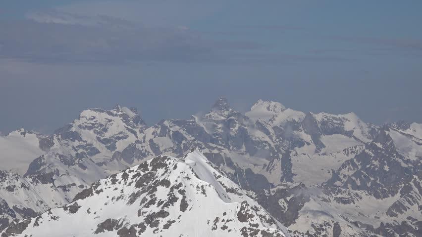 Climbers are preparing to climb Mount Elbrus - HD stock video clip