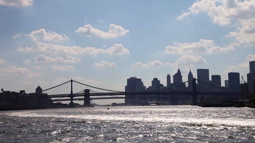 Skyline of New York City, NY, USA from the river and the bay | Shutterstock HD Video #16707952
