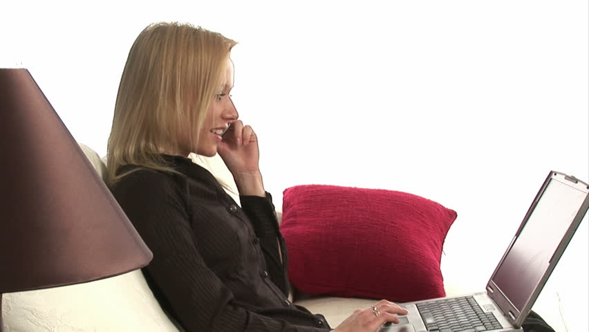 Woman Working From Home - HD stock footage clip