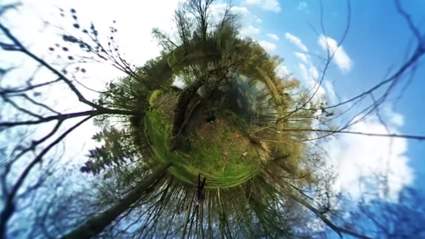 People in Green Park, Forest, Spherical Panorama Video, vr Video 360, Little Planet Video, Video For Virtual Reality, River or Lake is at the Forest, Fresh Green Trees and Grass, Sunny Day, People   Shutterstock HD Video #16765471