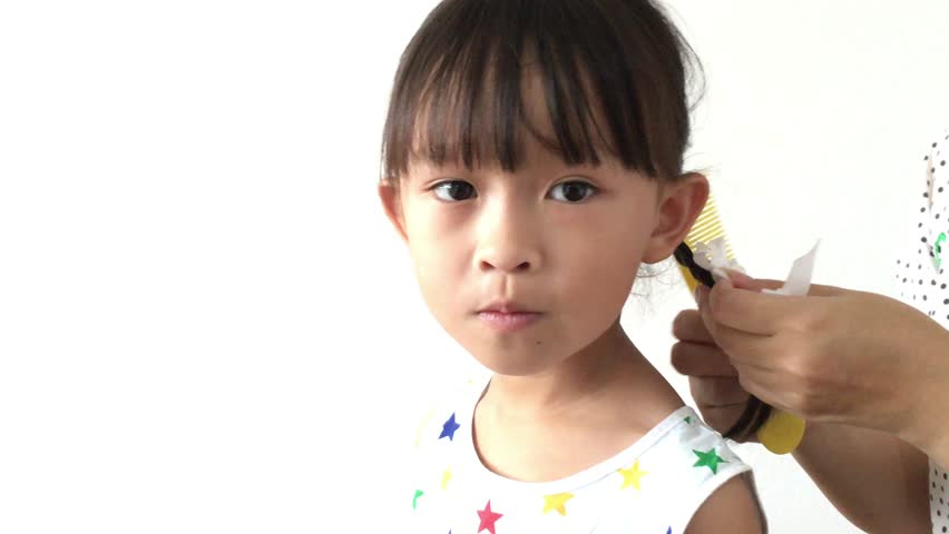 Little girl hold sand glass in wooden frame and tell for Tiny thai teen