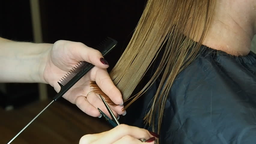 how to cut long hair with scissors yourself