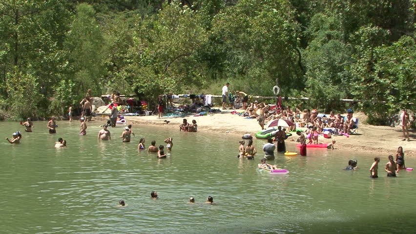 Hamilton Pool is a natural pool, and Austin area swimming hole. - HD stock video clip