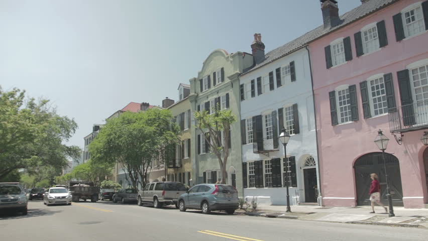 Rainbow row of houses in charleston sc charleston south for Charleston row houses