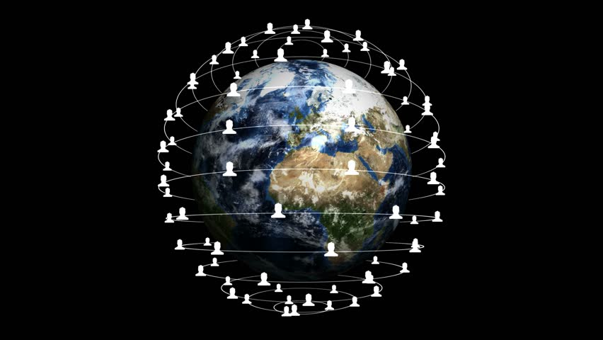 Earth, Connection Network Concept, with Alpha Channel, Loop, 4k  | Shutterstock HD Video #16869601