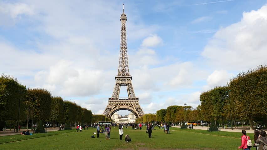 The Eiffel Tower Daytime-  Paris France  - Circa November 2015 | Shutterstock HD Video #16913431