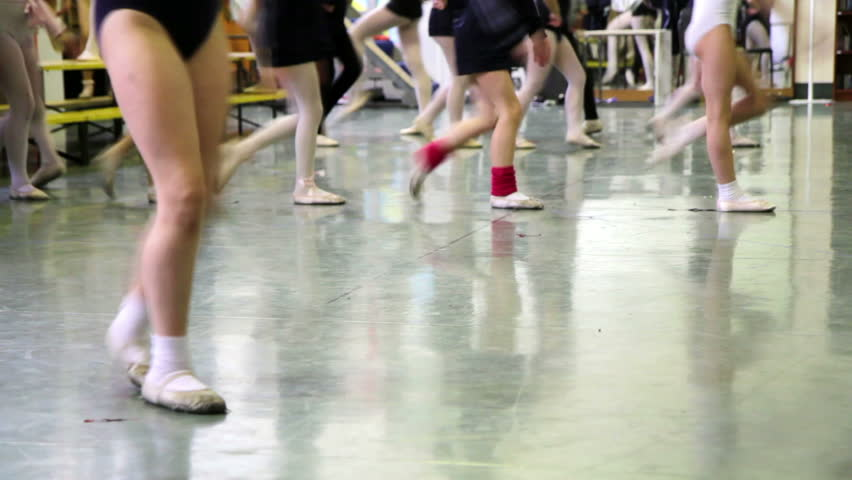 Dance school, girls who try choreography of a ballet   Shutterstock HD Video #16931674