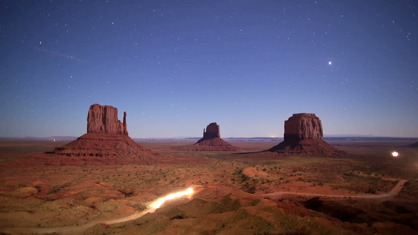 Monument Valley time lapse - HD stock video clip