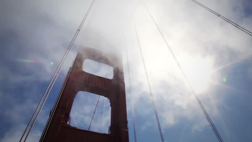 golden gate bridge - HD stock video clip