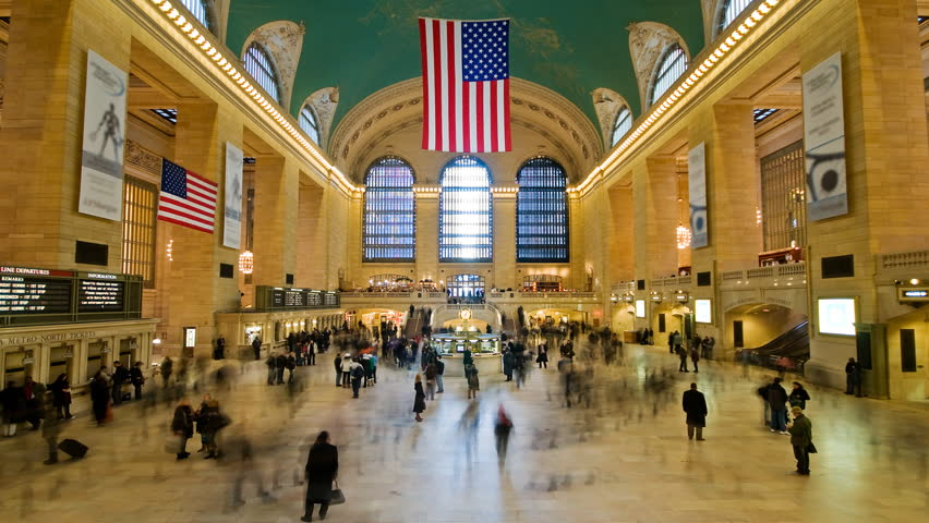 NEW YORK - CIRCA JUNE 2011: Time lapse of Grand Central station circa June 2011 in New York city.