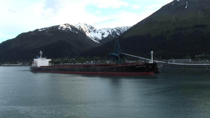 Cargo ship Alaska - HD stock video clip