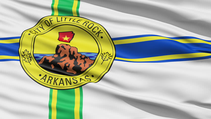 Littlerock Arkansas Waving American State Capital City Flag Animation