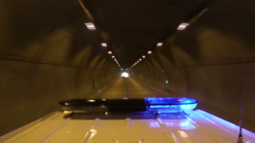 Ambulance in tunnel