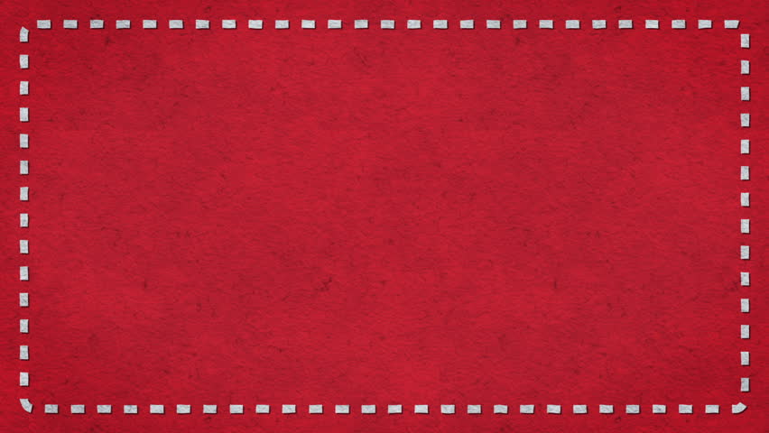 Frame Dashes Border Paper Texture Animated Red Background - HD stock footage clip