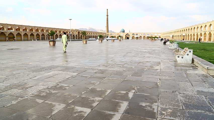 ISFAHAN,IRAN ?? CIRCA APRIL 2016 - unidentified childs man and woman in the historic antique square  - HD stock video clip