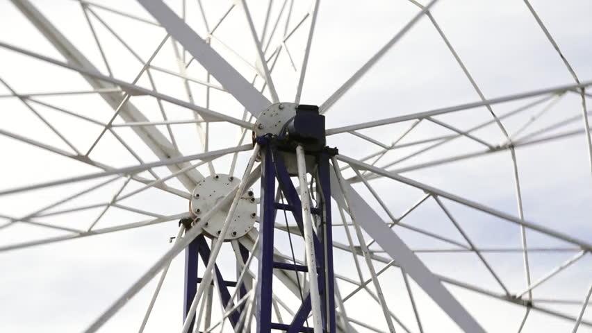 Giant wheel axle in motion. - HD stock video clip