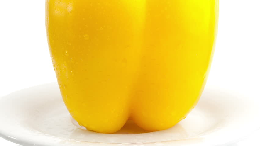 yellow sweet peppers - HD stock video clip