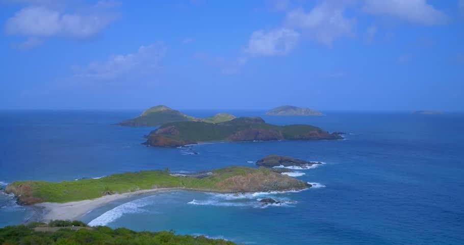 Mermaid's Chair, St. Thomas, Virgin Islands - 4K stock video clip