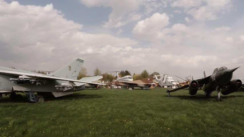 Festival Oldcarland 2016 in State Aviation Museum in Kiev, Ukraine - HD stock video clip