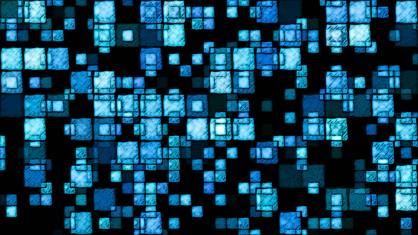 Abstract Sketchy Glowing Squares Background - Loop Blue   Shutterstock HD Video #17231077