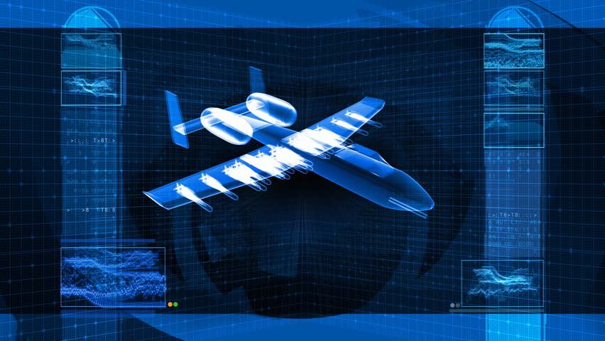 Military Fighter Jet 3D Design Schematic
