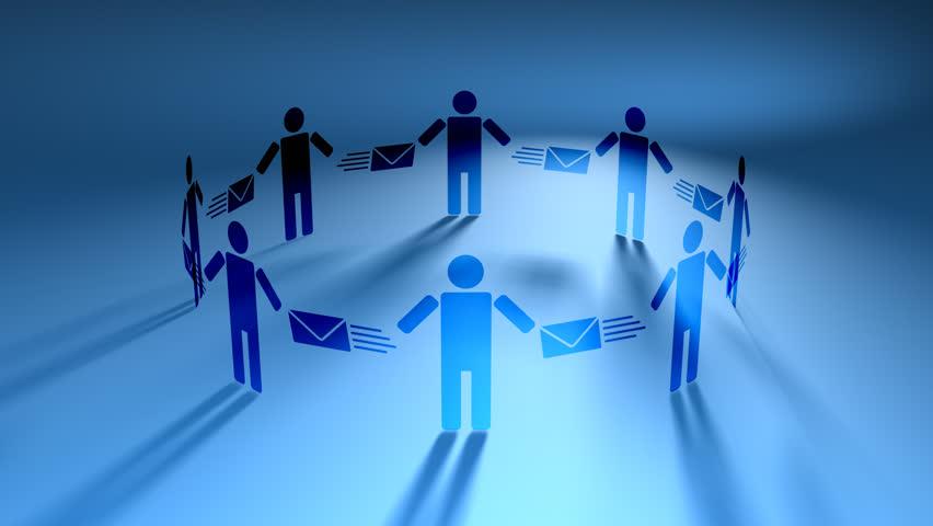 Email People Blue HD Loop