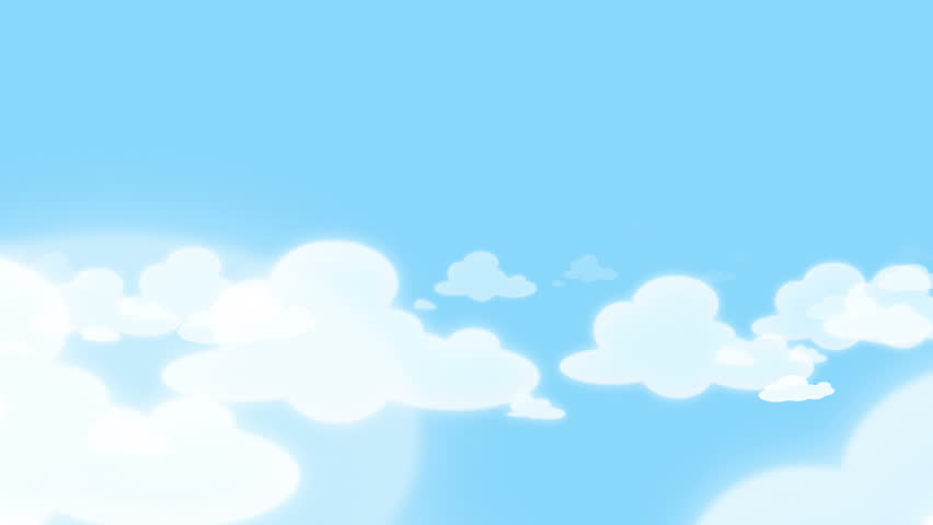 Cartoon Clouds and Blue Sky - HD stock footage clip