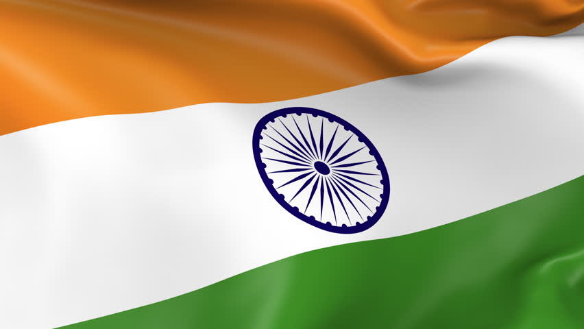 Indian Flag Animated: India An Elegant Animation Of The Worlds Flags, Using A
