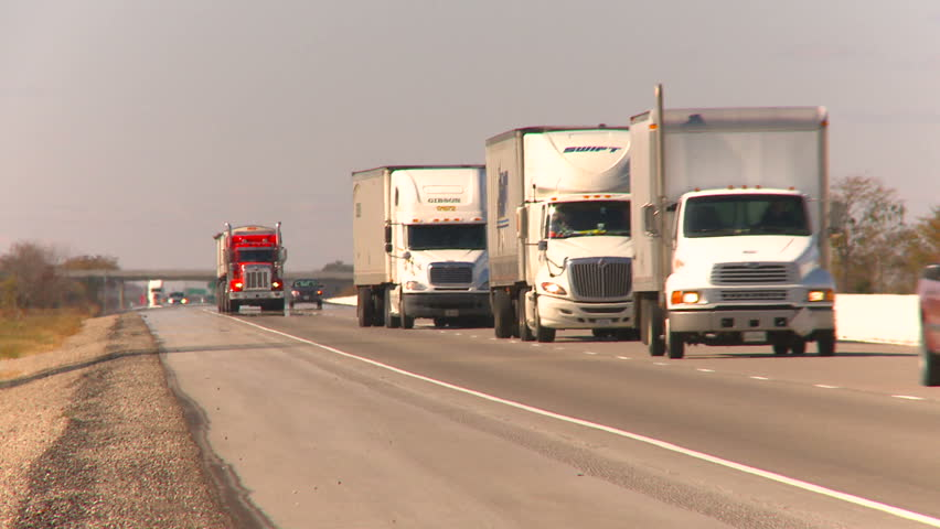 CANADA  - CIRCA 2010:  Transport trucks on highway