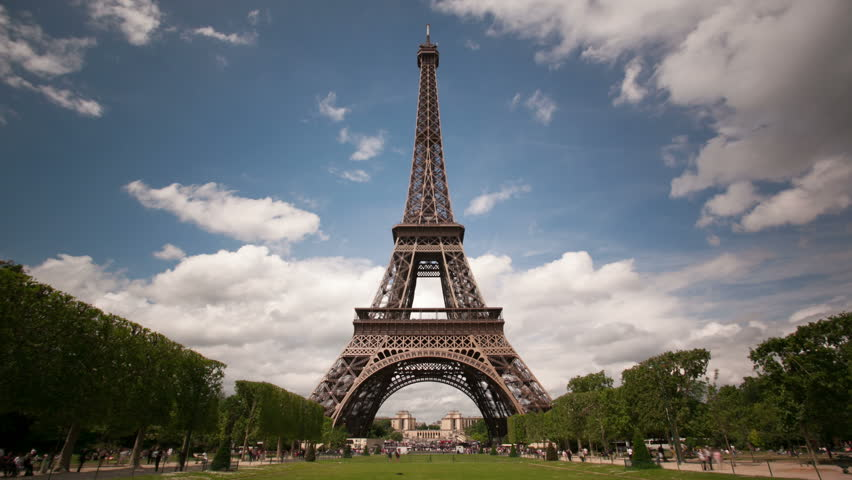 Paris timelapse with Eiffel Tower