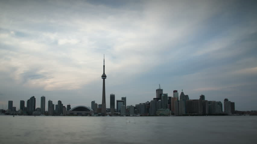 Toronto skyline day to night timelapse