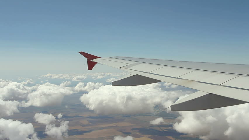 View on the Wing of airplane from window | Shutterstock HD Video #17634088
