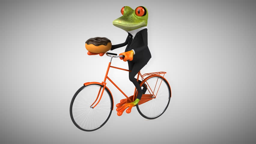 Green frog - HD stock footage clip