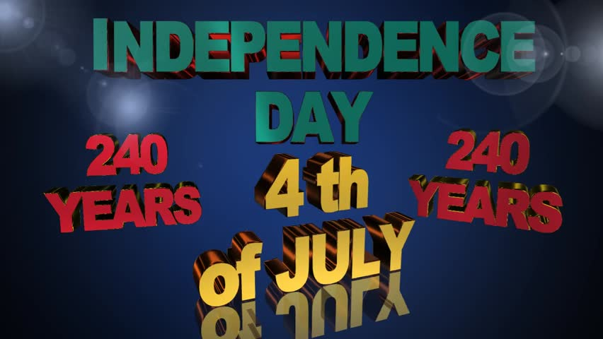 American Independence Day, video animation