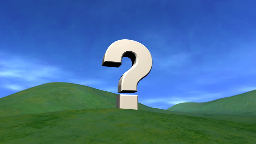 Question Mark on a Hill, Clouds Rolling By HD - HD stock footage clip