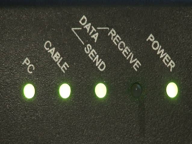 Close up of broadband modem - HD stock video clip